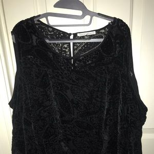 Cold Shoulder Crushed Velvet Blouse